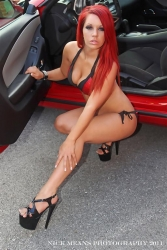 Hot Automotive Bikini Model