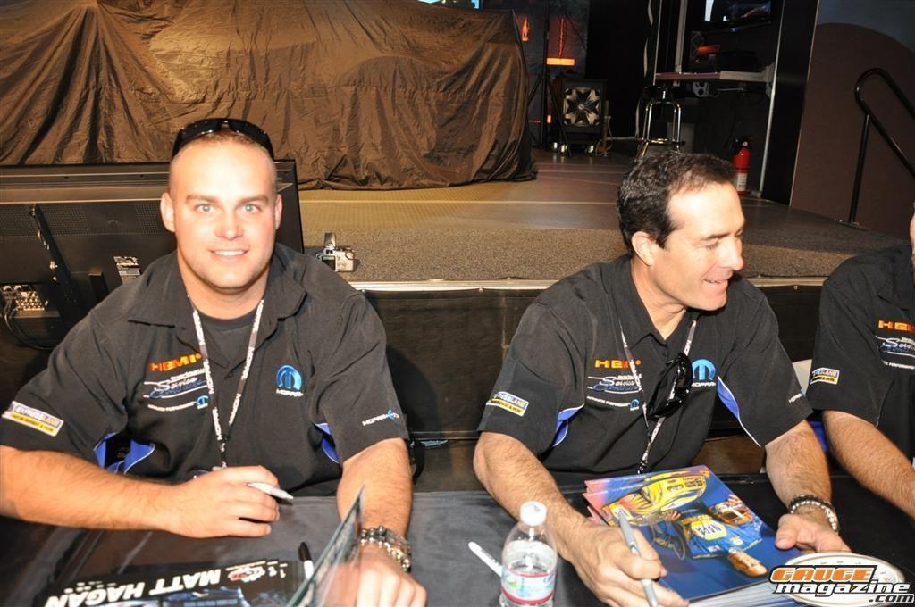 Matt Hogan NHRA funny Car Driver  SEMA 2010