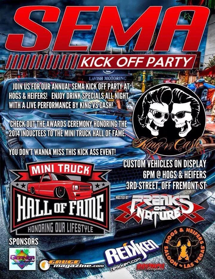 SEMA Las Vegas Kick off party 2014