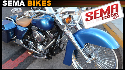 motorcycles at sema show 2014