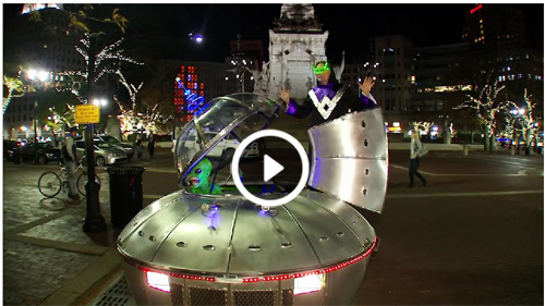 UFO Car invades Indianapolis