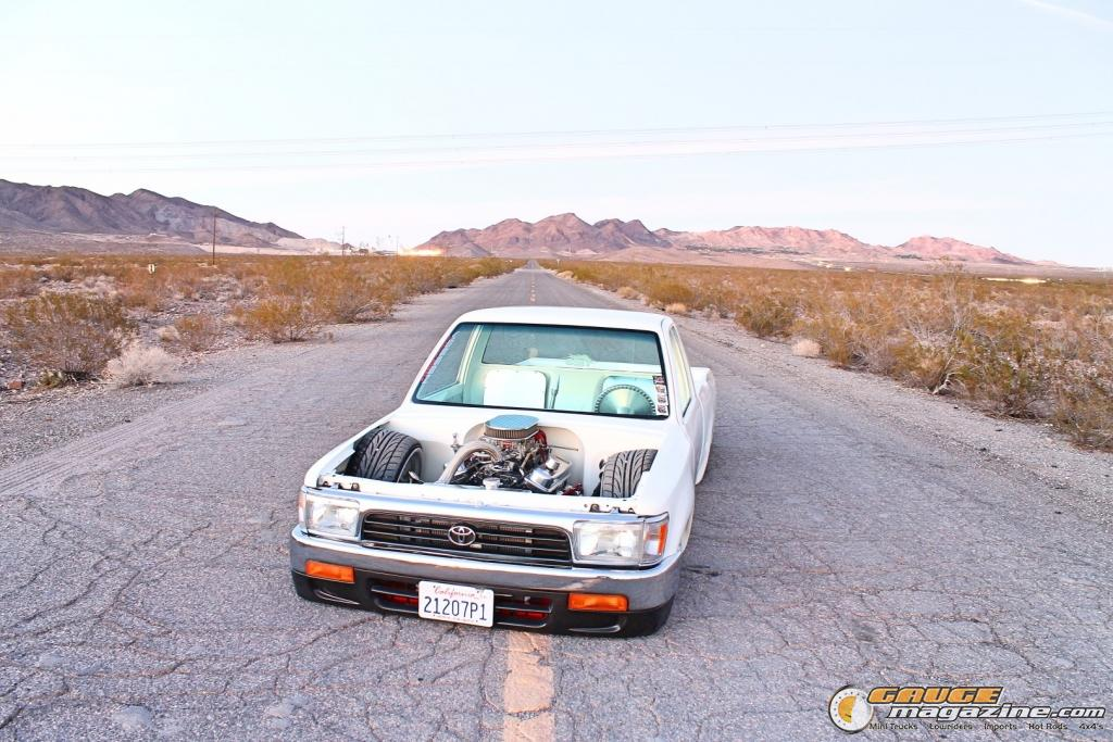 1993 Toyota Pickup Shortbed on Air Suspension - Gauge Magazine