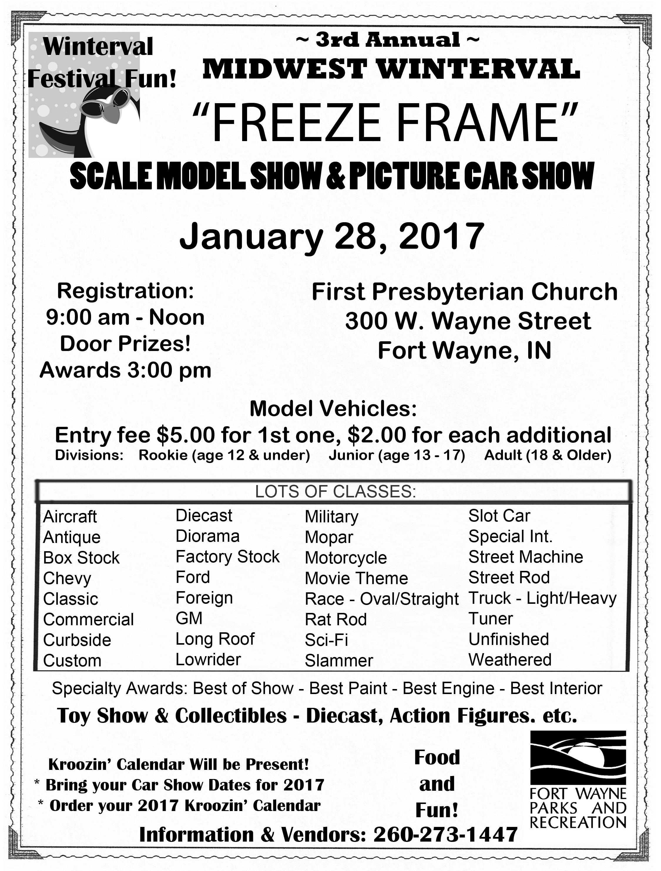 3rd Annual Midwest Winterval Freeze Frame Scale Model Show & Picture ...