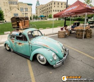 Classic air cooled VW beetles have become a huge hit at most modern import shows