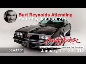Burt Reynolds personal Trans AM to be Sold