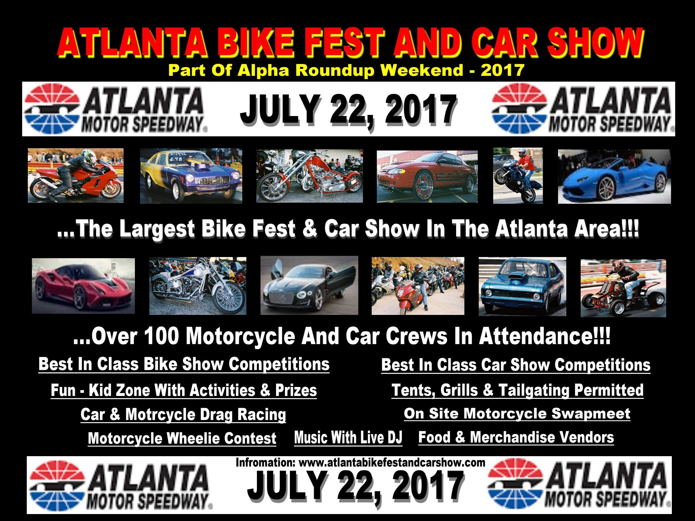 Atlanta Bike Fest And Car Show July Atlanta Motor Speedway - Car show atlanta motor speedway