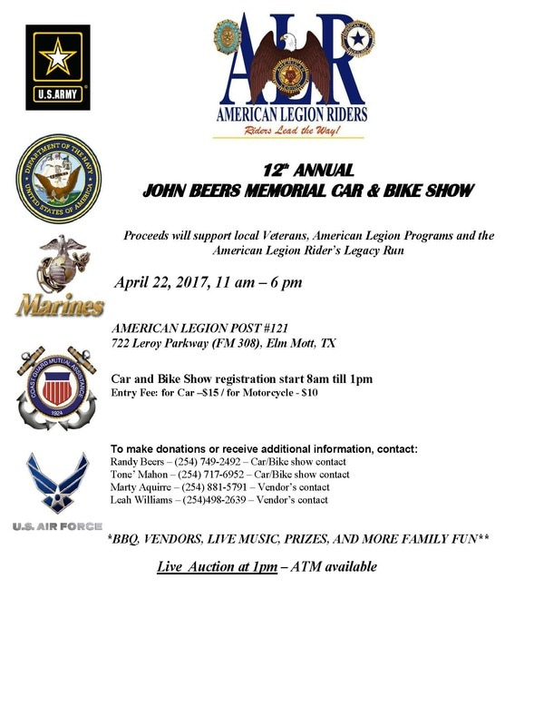12th Annual John Beers Memorial Car and Bike Show 2017