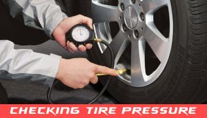 Tires checking pressure