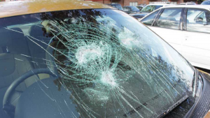 Car Windshield Damage