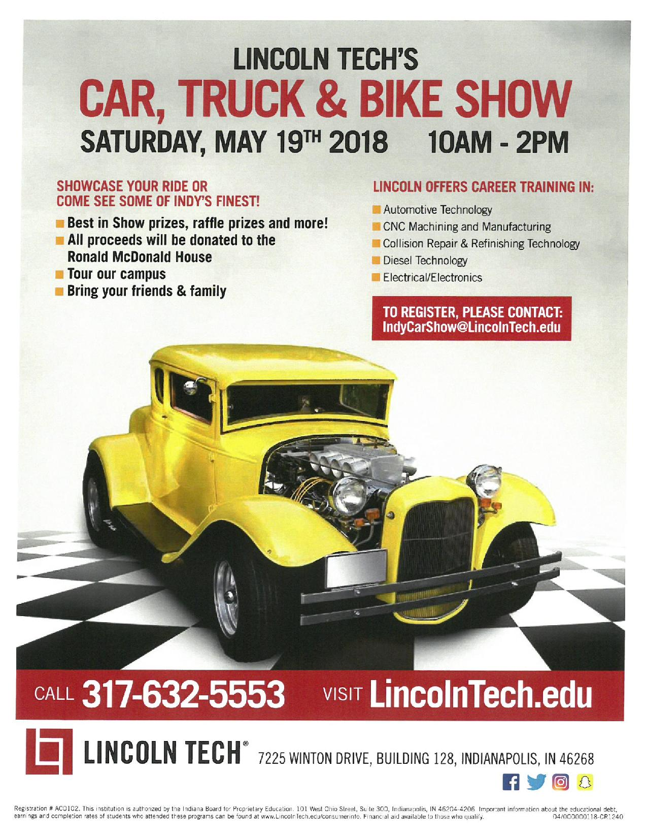Lincoln Techs Car Truck And Bike Show Gauge Magazine