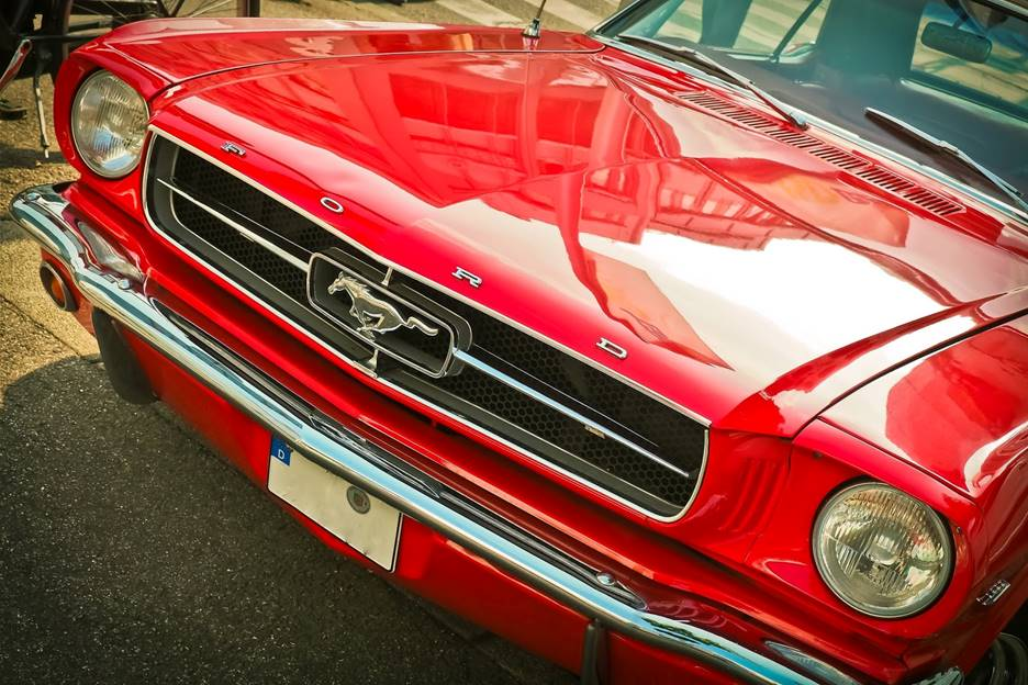 mustang front end photo