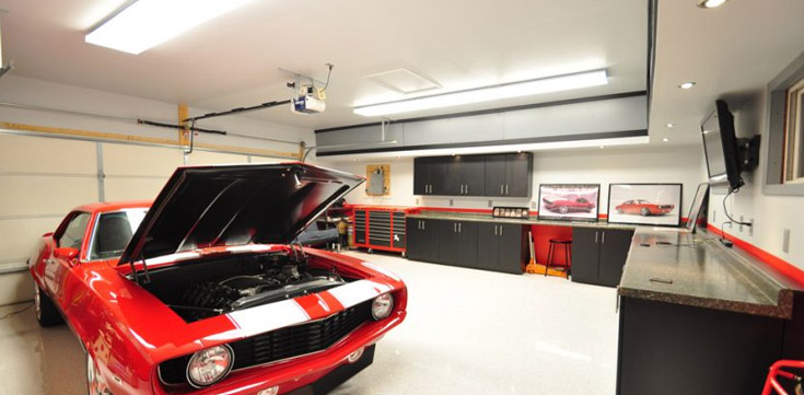 Perfect Lighting Set Up In Your Garage