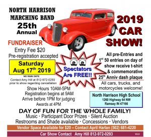 North Harrison Band Booster 25th Annual Car show