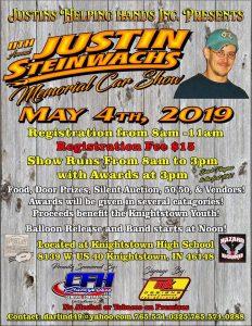 Justin Steinwachs 11th Annual Memorial Car Show