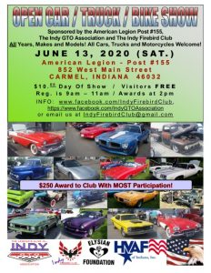 Open Car Show at the American Legion Post #155