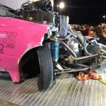 drag car wreck