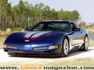 chevy corvette  lemans edition gauge magazine