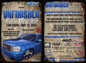 Unfinished Business Car And Truck Show Gauge Magazine - Car show greensboro